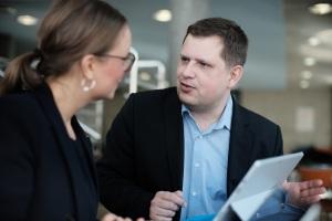 Markus Kaiser mit Nicole Schwertner